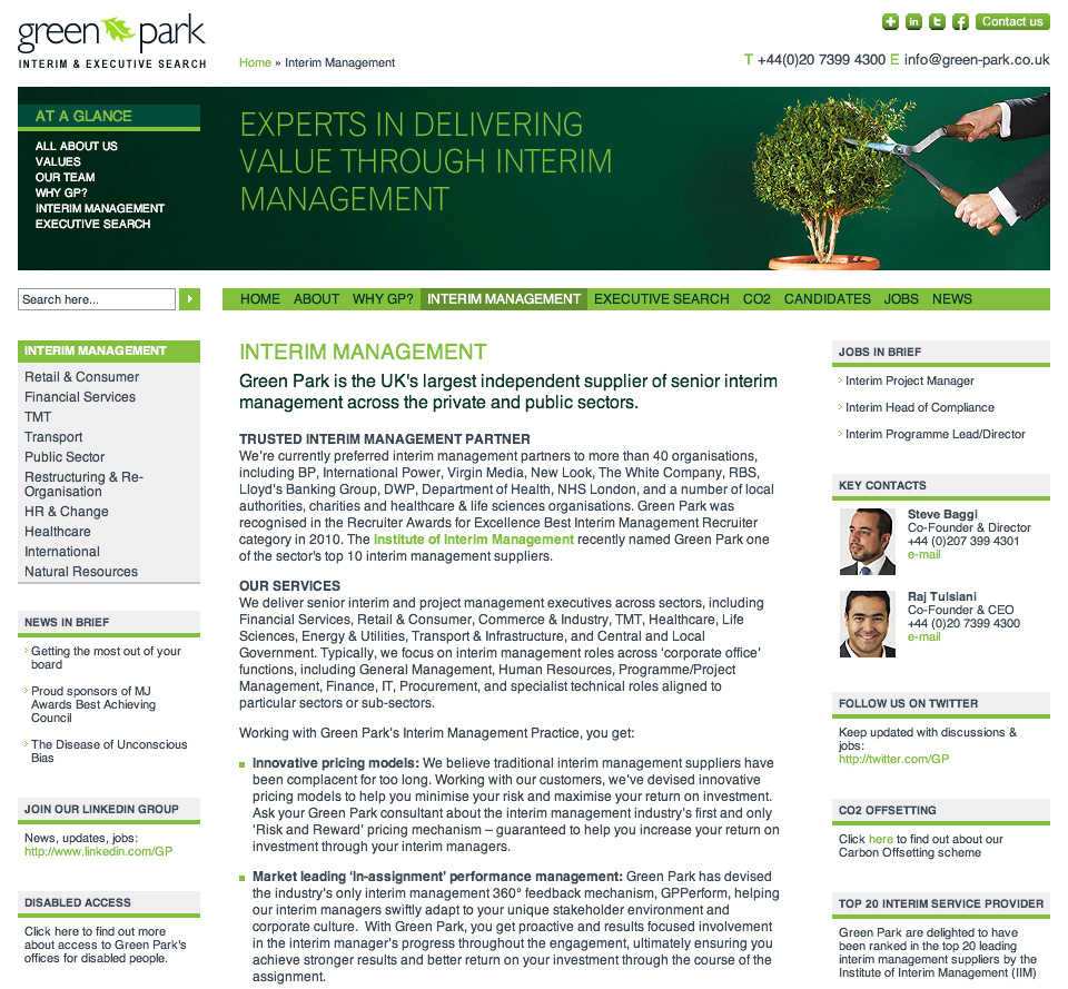 Green Park Interim Management