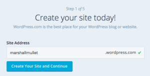 wordpress creation