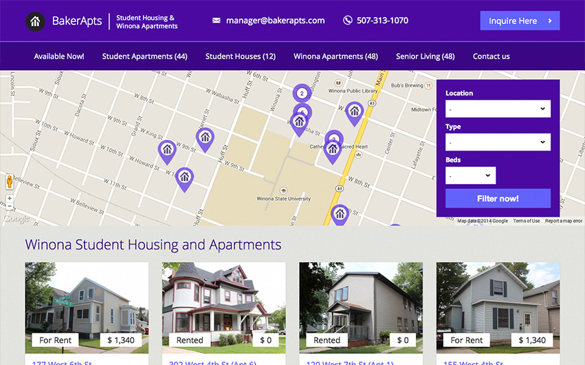 Baker Apartments Homepage