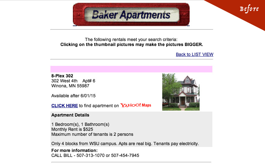Baker Apartments Old Listing Details Page
