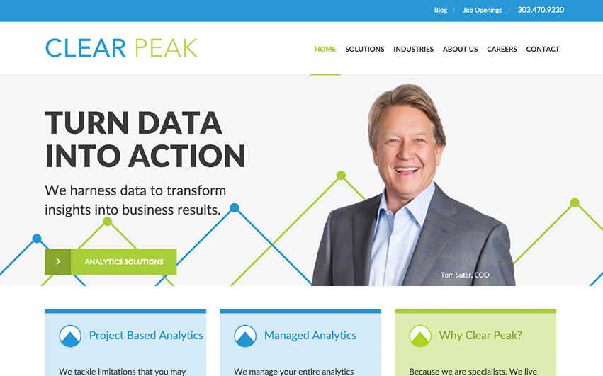 Clear Peak Homepage