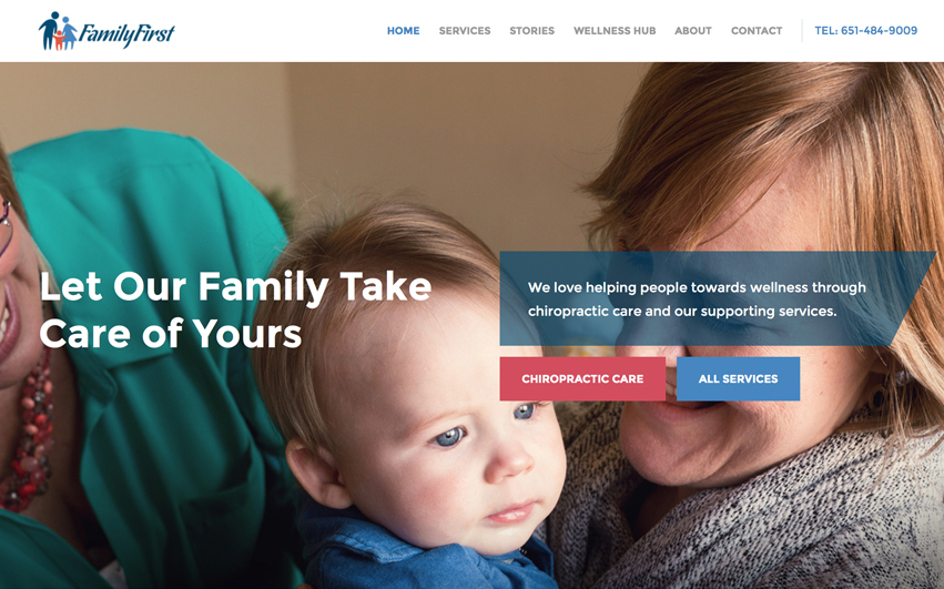 Family First New Homepage