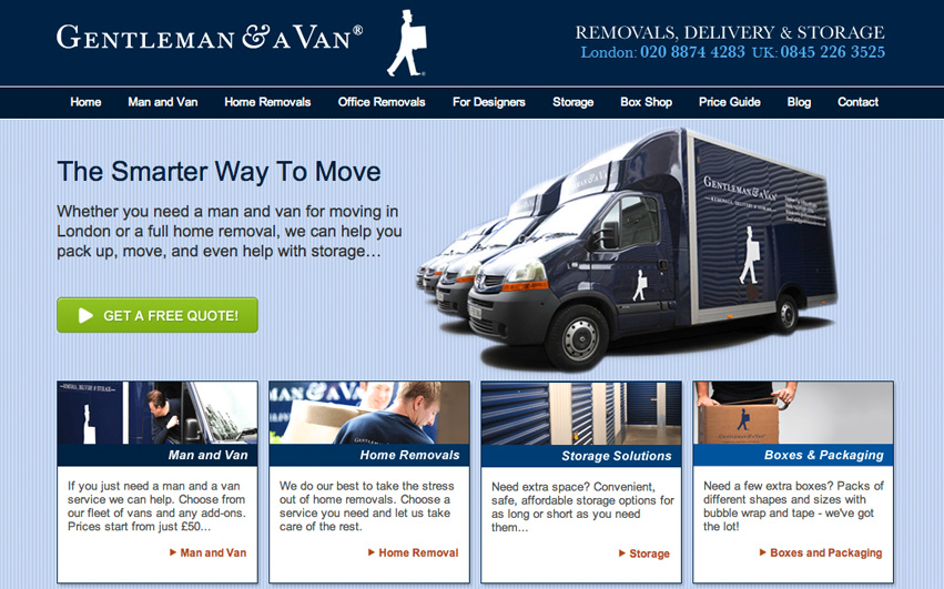 Gentleman & A Van Homepage