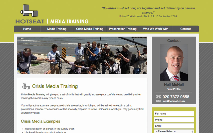 Hot Seat Crisis Media Training
