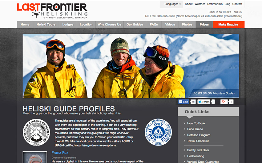 Last Frontier Heliskiing Guides