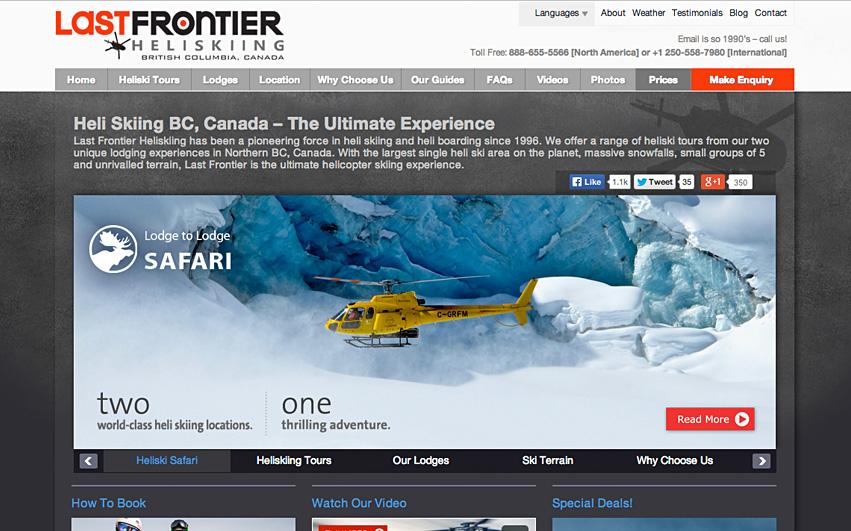 Last Frontier Heliskiing Homepage