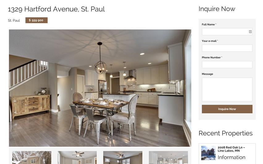 Oakwood Realty Listings Detail Page