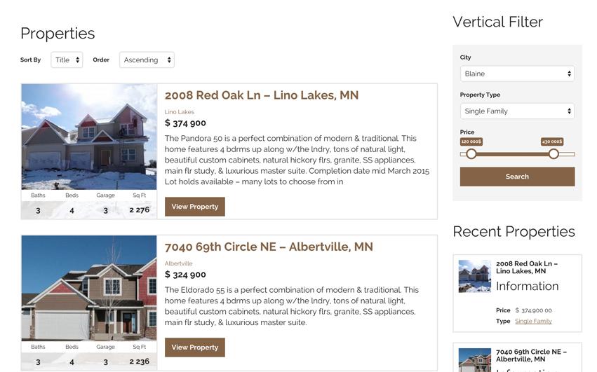 Oakwood Realty Listings Page
