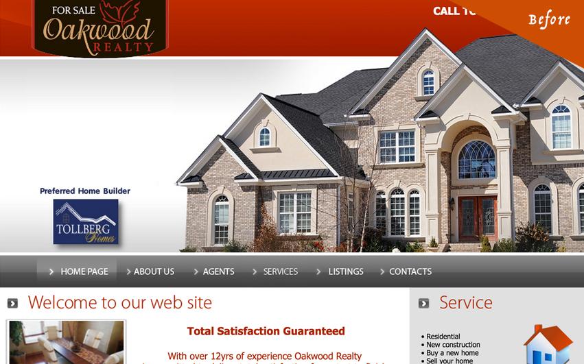 Oakwood Realty Old Homepage
