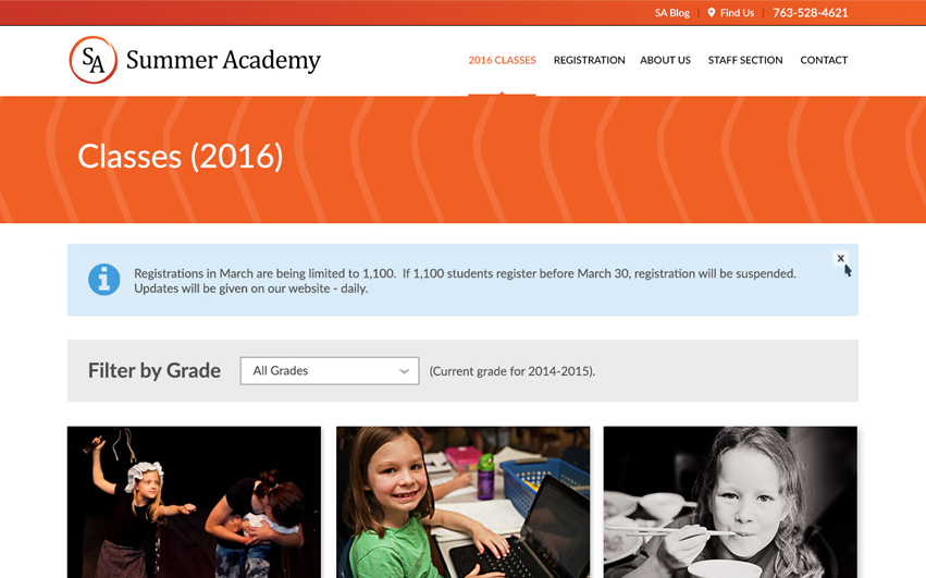Summer Academy Classes