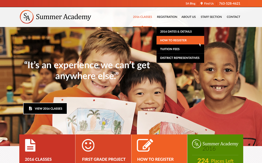 Summer Academy Redesign