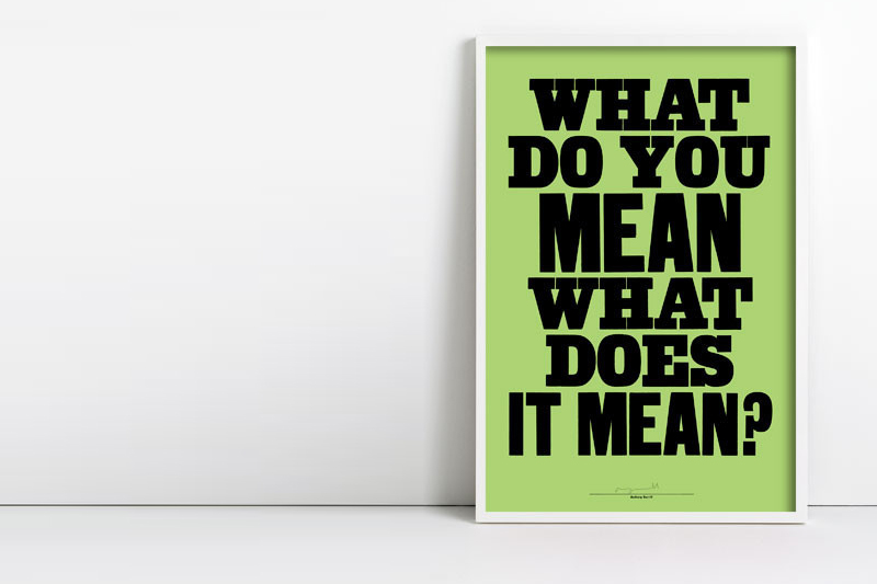 What do you mean poster