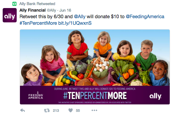 example of banks using social media