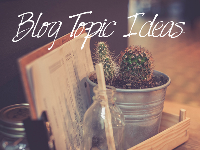 blog ideas to improve strategy